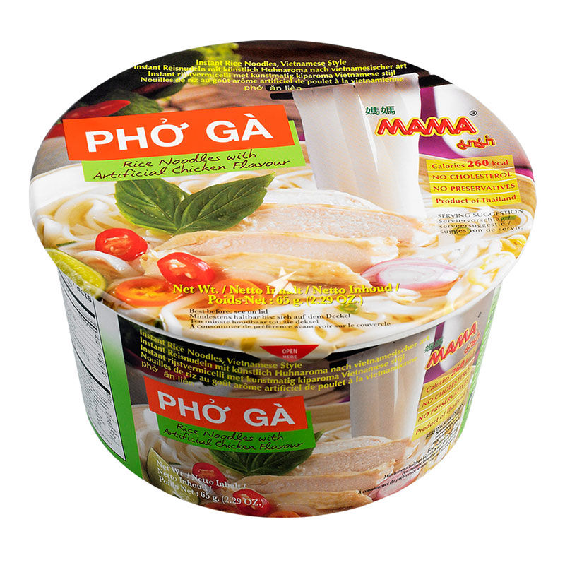 Mama Instant Rice Noodle Pho Ga Bowl -Chicken Flavour 65g