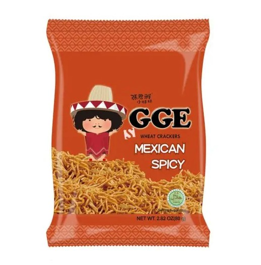 GGE Wheat Crackers-Mexican Spicy Flavor 80g