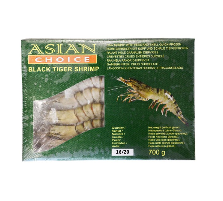 AC 6/8 Whole Tigar Shrimp 700g