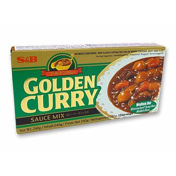 S&B Golden Curry Mix-Medium Hot 220g