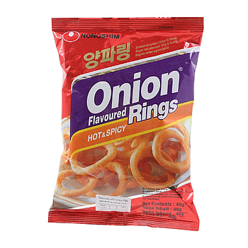 NS Onion Flavored Rings (Hot) 40g